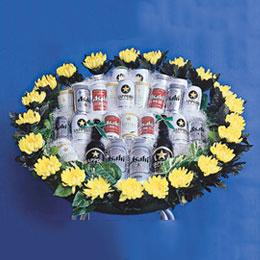 ビール花輪