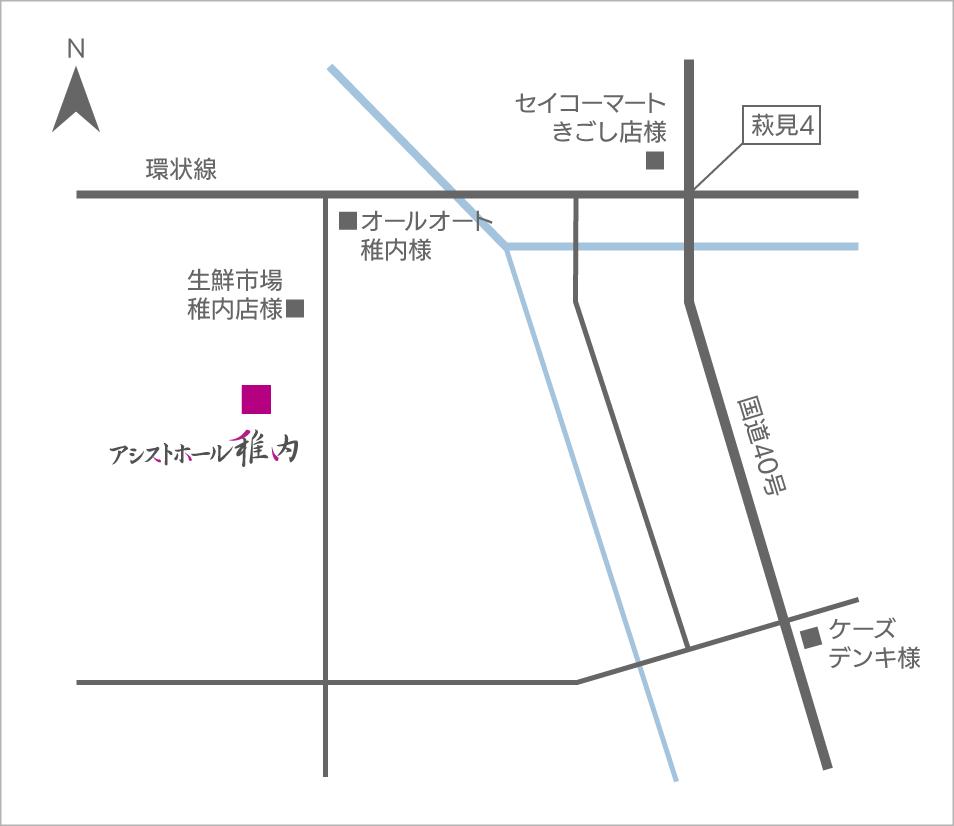 アシストホール地図